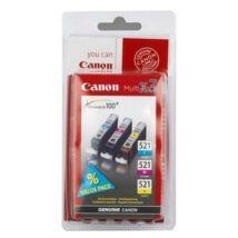 Canon CLI-521 C,M,Y eredeti tintapatron csomag