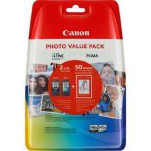 Canon PG-540XL BK / CL-541XL CMY eredeti 2db-os tintapatron csomag + Fotópapír