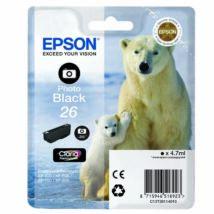 Epson 26PBK (T2611) eredeti tintapatron