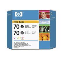 HP 70 BK (CB340A) eredeti tintapatron dupla csomag