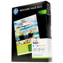 HP 940XL CMY(CG898AE) eredeti patroncsomag + 100db A4/180g fényes fotópapír