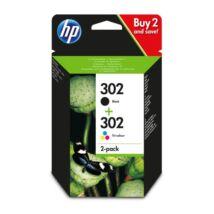 HP 302 (X4D37AE) (BK+CMY) eredeti patroncsomag
