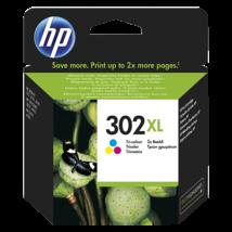 HP 302XL (CMY) (F6U67AE) eredeti tintapatron
