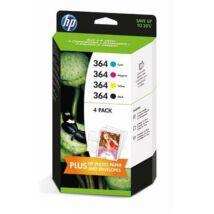HP 364 (N9J73AE) BKCMY eredeti 4db-os tintapatron csomag