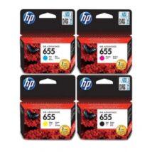 HP 655 BK/C/M/Y Eredeti Tintapatron csomag