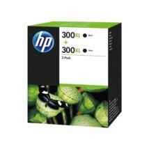 HP 300XL (D8J43AE) BK eredeti tintapatron dupla csomag