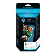 HP 57 (Q7942AE) (CMY) eredeti tintapatron + fotópapír