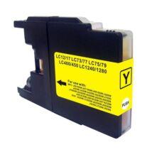 Brother LC1240/1280Y kompatibilis tintapatron