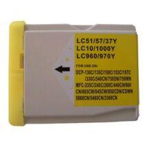 Brother LC970-LC1000Y kompatibilis tintapatron