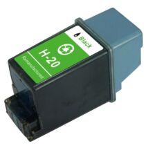 HP 20 Bk (C6614) kompatibilis tintapatron