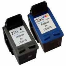 HP 21XL/22XL (C9351C/C9352C) kompatibilis (fekete-színes) tintapatron csomag