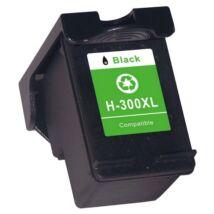 HP 300XL BK (CC641EE) kompatibilis tintapatron