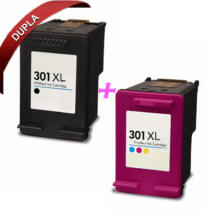 HP 301 XL (CH563EE/CH564EE ) (BK+CMY) kompatibilis tintapatron csomag