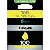 Lexmark 100 (Y) (14N0902E) eredeti tintapatron