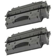 HP 05X (CE505X)  [2x6.5k] kompatibilis (100% új) toner [2db-os] Dupla Pakk