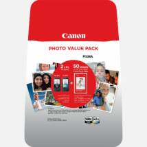 Canon PG-560XL BK / CL-561XL CMY eredeti 2db-os tintapatron csomag + fotópapír