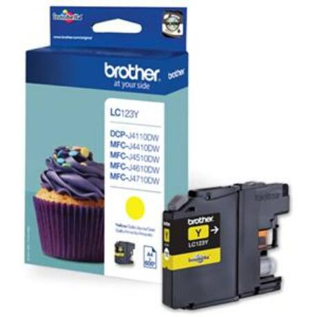 Brother LC123Y eredeti tintapatron
