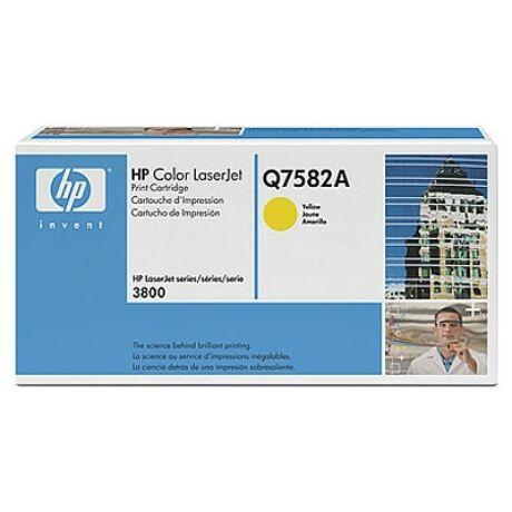 HP Q7582A (Y) eredeti toner
