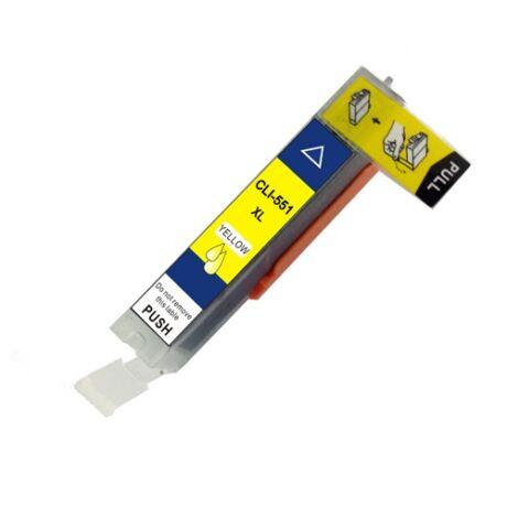 Canon CLI-551XL (Y) (Chipes) utángyártott tintapatron