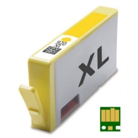 HP 920XL Y (CD974A) chippes utángyártott tintapatron